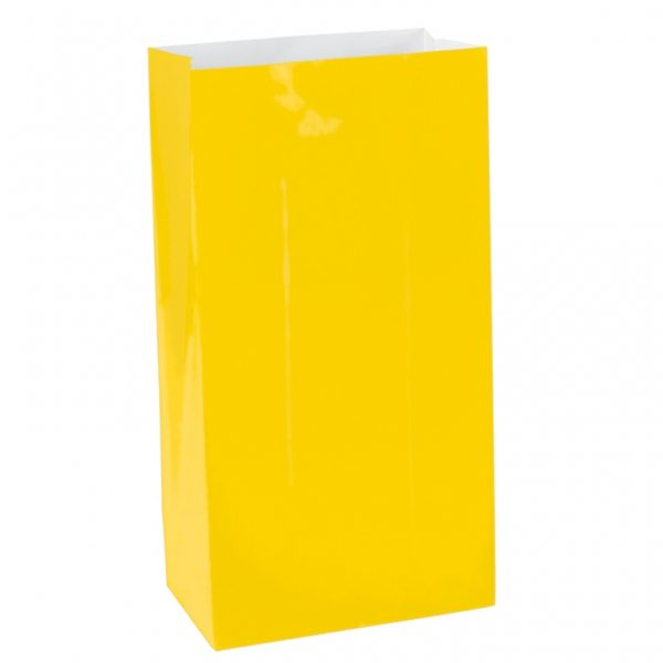 Yellow Mini Paper Party Gift Bags