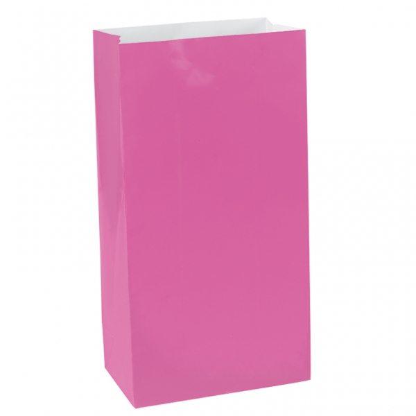 Hot Pink Mini Paper Bags