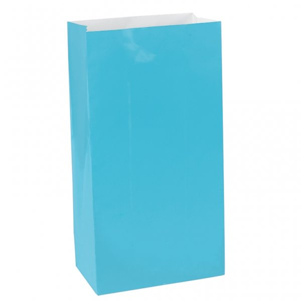 Turquoise Blue Mini Paper Party Gift Bags