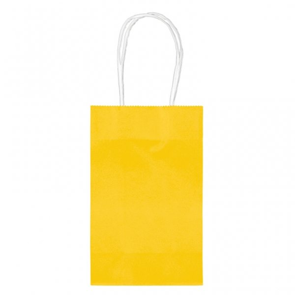Yellow Small Paper Party Bags