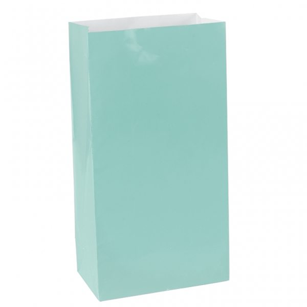 Robins Egg Blue Mini Paper Party Gift Bags