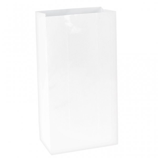 White Mini Paper Party Gift Bags