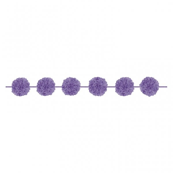 Lilac Party Lilac Pom Pom Garland