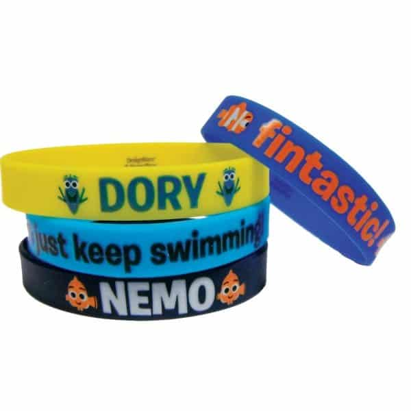 Disney Finding Dory Party Bag Fillers - Rubber Wristbands