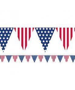 USA American Flag Plastic Bunting