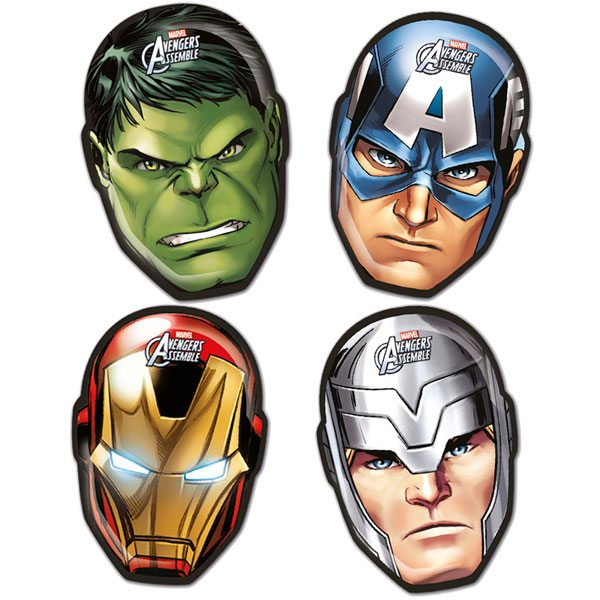 Avengers Age Of Ultron Party Character Face Shaped Plate
