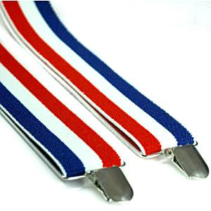 Red, White & Blue Striped Braces