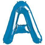 Blue Letter A Foil Balloon