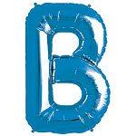 Blue Letter B Foil Balloon