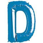 Blue Letter D Foil Balloon