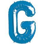 Blue Letter G Foil Balloon