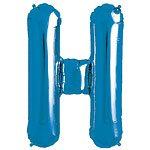 Blue Letter H Foil Balloon