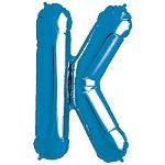 Blue Letter K Foil Balloon