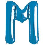 Blue Letter M Foil Balloon
