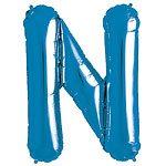 Blue Letter N Foil Balloon