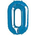 Blue Letter O Foil Balloon