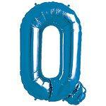 Blue Letter Q Foil Balloon