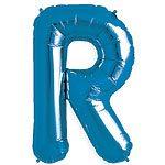 Blue Letter R Foil Balloon