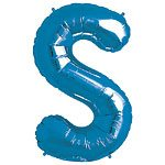 Blue Letter S Foil Balloon