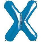Blue Letter X Foil Balloon