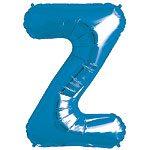 Blue Letter Z Foil Balloon