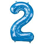 Blue Number 2 Foil Balloon