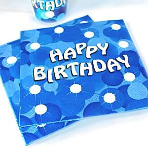 Blue Sparkle Party Paper Napkins