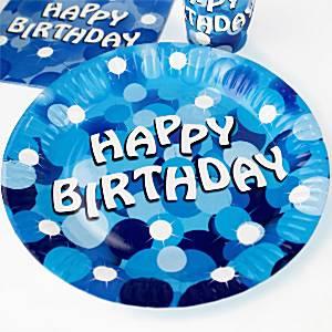 Blue Sparkle Party Paper Plates