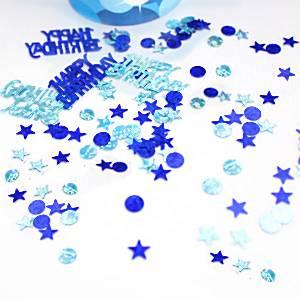 Blue Sparkle Party Table Confetti