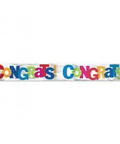 Cabana Dots Party Congratulations Banner