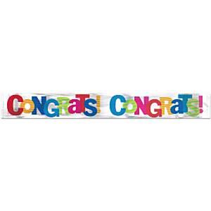 Cabana Dots Party Congratulations Banner
