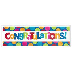 Cabana Dots Party Congratulations Giant Banner