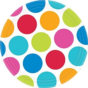 Cabana Dots Party Paper Plates
