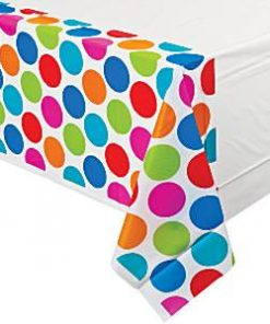 Cabana Dots Party Plastic Tablecover
