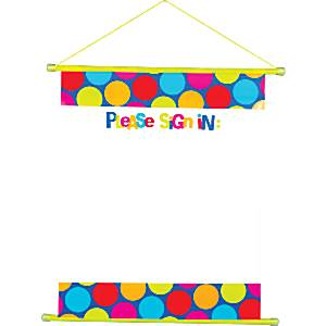 Cabana Dots Party Sign In Scroll