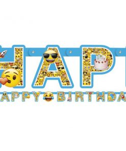 Emoji Party Happy Birthday Banner