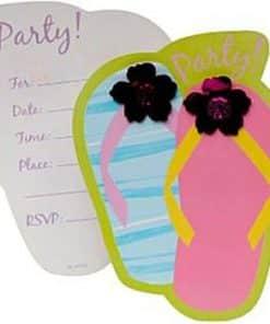 Flip Flop Party Invitation Card