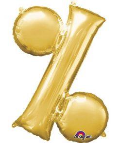 Gold Letter % Foil Balloon
