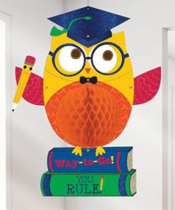 Graduation Party Owl Honeycomb Hanging Decoration