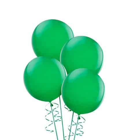 Green Party Balloons