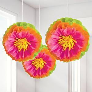Hibiscus Pom Pom Hawaiian Decorations