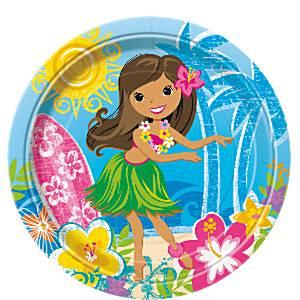 Hula Beach Party Plates