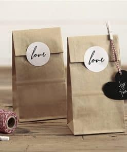 Kraft Love Treat Bags