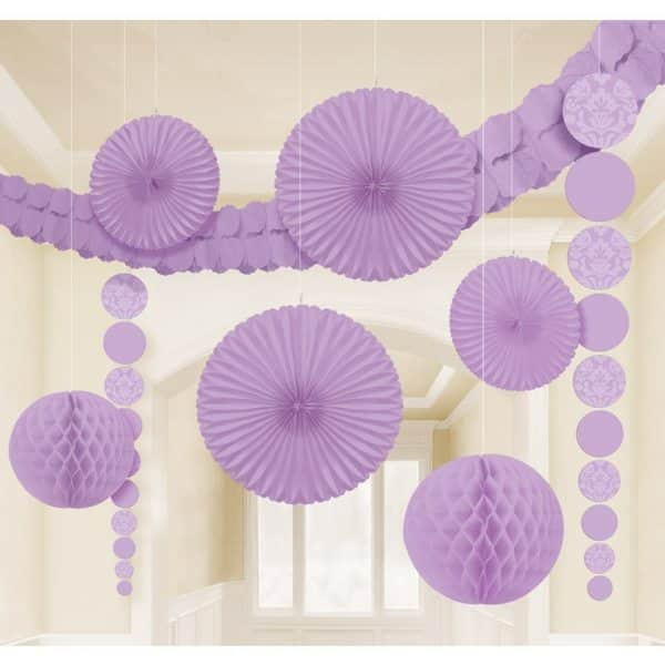 Lilac Party Room Decorating Kit