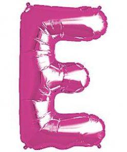 Magenta Letter E Foil Balloon