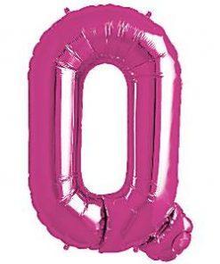 Magenta Pink Letter Q Foil Balloon