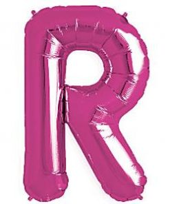 Magenta Pink Letter R Foil Balloon