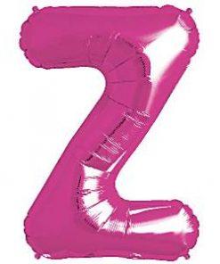 Magenta Pink Letter Z Foil Balloon