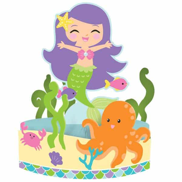 Mermaid Friends Party Honeycomb Centrepiece
