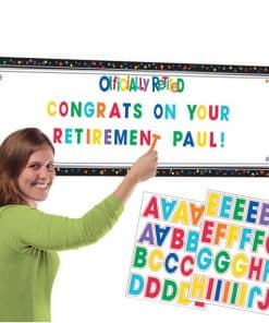 Officially Retired Personalised Giant Room Banner Kit